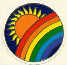 Vintage Illuminations Rainbow Sun Sticker by Stuckonstickers 1980s Childhood, Childhood Memories, New Sticker, Sticker Paper, Rainbow Colors, Rainbow Things, Bujo, Painted Rocks, Hand Painted
