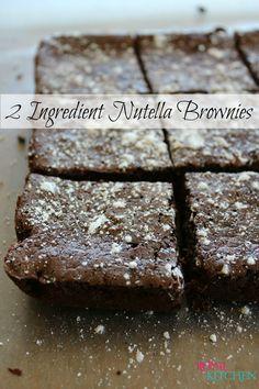 2 Ingredient Nutella Brownies