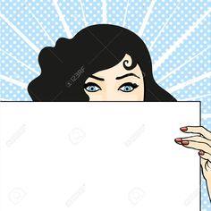 Mujer Con Una Hoja De Papel, Expresando Sorpresa Ilustraciones Vectoriales, Clip Art Vectorizado Libre De Derechos. Pic 21524535.