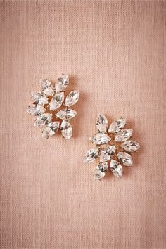 Marquee Crystal Earrings in Shoes & Accessories Jewelry at BHLDN