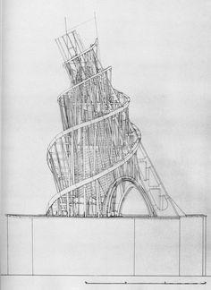 Vladimir Tatlin   Monumento a la Tercera Internacional   Moscú, Rusia   1920
