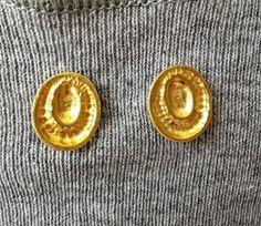 22K  Gold earrings  Vintage Style Earrings  Original by OakaTitan