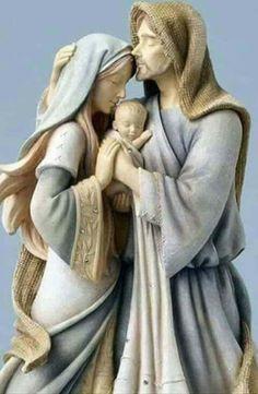 Joseph, Mary, and Jesus Catholic Art, Catholic Saints, Religious Art, Blessed Mother Mary, Blessed Virgin Mary, Mama Mary, Christmas Nativity Scene, Nativity Scenes, O Holy Night