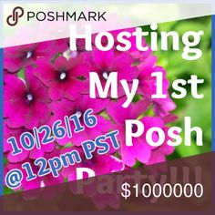 🎉Posh Party - 10/26@12pm PST🎉 I am so excited to host my 1st posh party. Theme - TBD.  I look forward to selecting host picks from all the great posters.  Thank you for supporting me and happy poshing. stylePLUS Other
