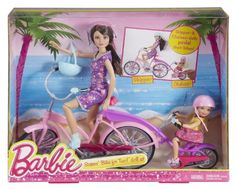 Amazon.com: Barbie Sisters Bike for Two! Doll 2-Pack: Toys & Games