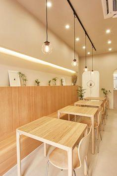 Restaurant Kitchen Design, Deco Restaurant, Cafe Shop Design, Restaurant Interior Design, Resturant Interior, Korean Cafe, Small Coffee Shop, Sushi Design, Decor