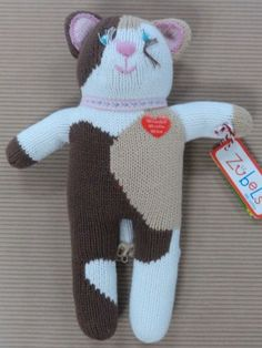 NEW Zubels Hand-crafted Gator Hat 6 9 12 months Girls Knit