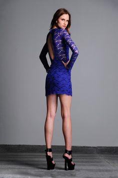 Maeve Open Back Short Lace Dress on HauteLook