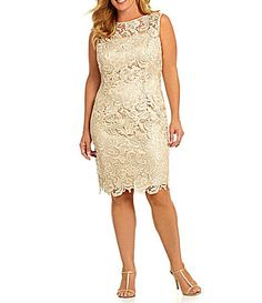 Adrianna Papell Plus Floral Lace Dress #Dillards Style: Mother of the Bride