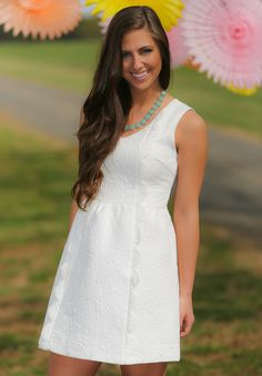 Up & Coming Dress-White - Dresses