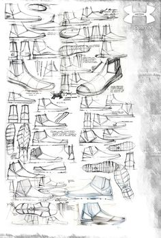 Under Armour Tradesman by Ben Adams-Keane, via Behance Nike Dance Shoes, Sneakers Sketch, Shoe Sketches, Hiking Sandals, Travel Journals, Designer Sandals, Drawing Skills, Designs To Draw, Under Armour