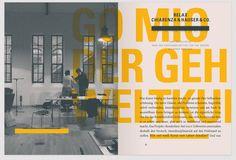 Borderline – labor b designbüro Great Logo Design, Pub Design, Book Design, Print Design, Editorial Design Layouts, Magazine Layout Design, Corporate Design, Layout Inspiration, Graphic Design Inspiration