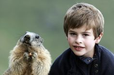 Normally These Animals Fear Humans, But They've Bonded With This Young Boy. - http://www.lifebuzz.com/marmots/