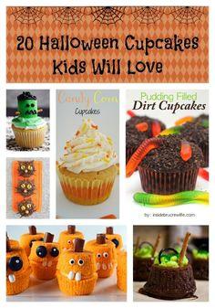 20 Halloween Cupcakes Kids Will Love