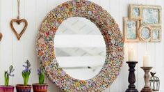 Beautiful recycled paper mirror