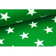 Jersey - Riesen Sterne - Grün - Sternestoff