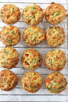 Spinach and Cheese Savoury Lunchbox Muffins