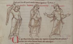 1150 - Terence's Comedies, in Latin, with Romanesque drawings. 51v