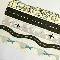 Travel Washi Tape, Holiday Planner, Vacation, Road Trip, Map, Plane, Street, Road, Moving, World, Pen Pal, Honeymoon, Long Distance, Cruise