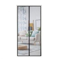 Tough and Durable Reinforced Magnetic Screen Door with Full Frame Hook and Loop Fasteners to Ensure All Bugs are Kept Out US Military Approved Many Sizes and Colors to Fit Your Door Exactly