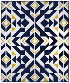 Bravo Indigo quilt pattern by Caroline Greco / Patchwork Quilt Patterns, Quilt Patterns Free, Free Pattern, Modern Quilt Patterns, Quilting Projects, Quilting Designs, Quilting Blogs, Patch Quilt, Quilt Blocks