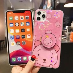 Cute Cartoon Glitter Silicone Stand Phone Case For iPhone X XR XS MAX – Touchy Style