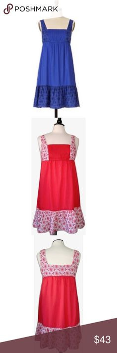 """Eloise S Anthro Nectar Chemise Embroidered Dress Eloise Sz S Anthro Nectar Chemise Embroidered Lace DressSize SmallEloise for AnthropologieMaterial: 100% CottonMachine wash cold with like colorsLightweight crisp cotton dress in hot pink Trimmed with white and pink embroidered floral laceGathering around lower hem for flarePintucks at bustElastic gathering at waist for the perfect fitBust: 34"""" (stretches to 36"""")Waist: 29""""(stretches to 37"""")Hips: 42""""Length: 34""""Excellent condition; shows little…"""