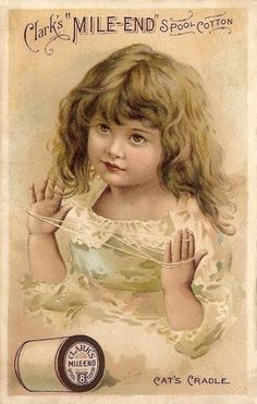 Victorian Trade Card ~ Sewing