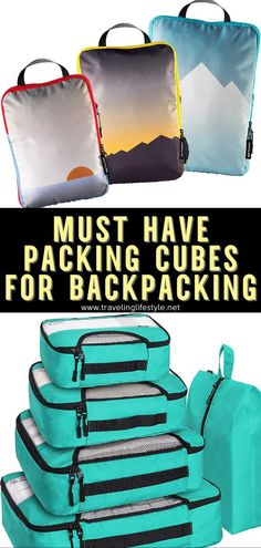 There are so many variations of packing cubes out there in the market that it can be difficult to know what product to buy. Thankfully, we are here to help guide you. We have rounded up 8 best compression packing cubes for backpackers! #compressionpackingcubes #packingcubes #travelhacks #traveltips #backpacking Best Travel Gadgets, Camping Gadgets, Camping Hacks, Travel Route, Travel Packing, Packing Tips, Backpacking For Beginners, Backpacking Gear, Packing Cubes