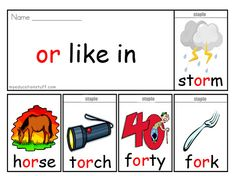 'or' Phonics Flip Book - Download this FREE oo Word Flip Book to Help With Reading