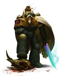 Dark Angel Devian by Warhammer 40k Salamanders, Salamanders Space Marines, Warhammer 40k Art, Warhammer 40k Miniatures, Legion Characters, Dark Vengeance, Dark Angels 40k, Ultramarines, Angel Of Death