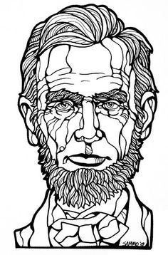 Lincoln Line Art.... for coloring in.