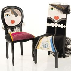 Chairs have never looked more chic and appealing! Each character-chair is unique, manually personalized. (via Irina Neacsu)