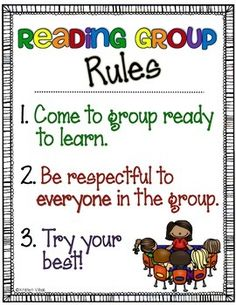 Guided Reading Group Rules