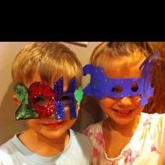 When I was a kid, I always wore New Year's Eve masks.