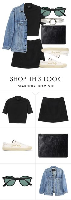 """Untitled #5701"" by laurenmboot ❤ liked on Polyvore featuring Monki, Yves Saint Laurent, Status Anxiety, Ray-Ban, Y/Project and H&M"