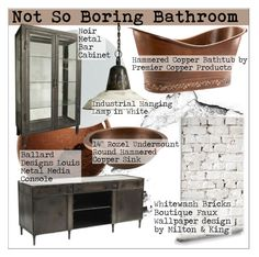 """Not So Boring Bathroom"" by martso ❤ liked on Polyvore featuring interior, interiors, interior design, home, home decor, interior decorating, NARS Cosmetics, Rosenthal, Milton & King and Ballard Designs"