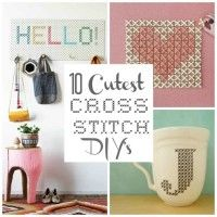 10 Modern Cross Stitch DIY projects