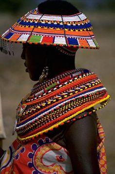 Africa | Samburu women.  Kenya | ©Carl and Ann Purcell.
