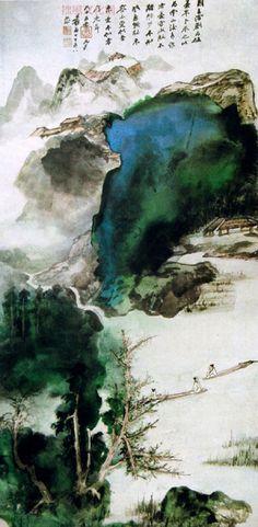 Showcase of Zhang Daqian's landscape paintings(1)