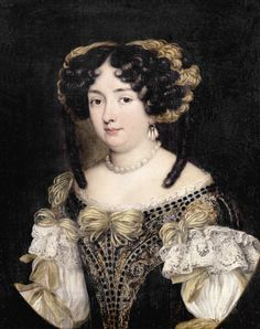 1670s - Eleonora Boncompagni Borghese, half-length, in an embroidered dress by Jacob Ferdinand Voet studio