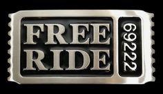 Free Ride Ticket Stub Funny Belt Buckle #freeride #freerideticketstub #69222 #freeridebeltbuckle #ticketbuckle #beltbuckle #coolbuckles