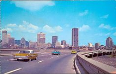 montreal - view from the bonaventura autoroute Trump Tower Toronto, Old Montreal, Canada, Old Photos, New York Skyline, Vintage, World, City, Travel