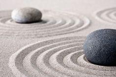 Zen garden stones.