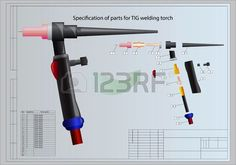 Specification of parts for TIG welding torch