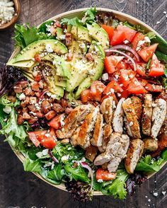 BLT BALSAMIC CHICKEN AVOCADO SALAD BLT Balsamic Chicken Avocado Feta Salad is a delicious twist to a BLT in a bowl! With a balsamic dressing that doubles as a marinade you wont even miss the bread in this mega loaded salad. Weight Watchers Smart Points: 12 per serve Author: Karina  Cafe Delites Serves: 4 INGREDIENTS Balsamic Dressing / Marinade:  cup balsamic vinegar  cup olive oil 2 tablespoons water (or more oil if you wish) 2 teaspoons Italian seasoning 2 teaspoons minced garlic 1…