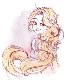 MEMORABILIA STUDIOS - A quick Rapunzel sketch! :D Follow us on our blog...