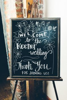 Wedding Chalkboard Sign Welcome Sign by SouthernLetteringCo