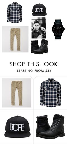 """""""date night"""" by zoey12212 on Polyvore featuring Abercrombie & Fitch, United by Blue, 21 Men, Timberland, Adam Levine, Nixon, men's fashion and menswear"""