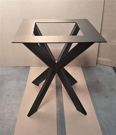 Spider style Modern Table X Base for Square or